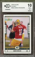 2005 Score Glossy #352 Aaron Rodgers Rookie Card BGS BCCG 10 Mint+