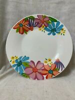 """Royal Norfolk 6 Dinner Plates Flowers Bright Colors Dishwasher Safe 10 1/2"""""""