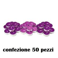 Set 50 Pezzi Candele Viola Profumate Fragranza Lavanda Tealight Lumini moc