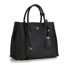 New Prada Saffiano Cuir Small Leather Tote Bag BN2775 Nero Black