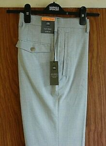 Mens Marks & Specer Slim Fit  Flat Front Trousers Quality & Stylish Size 30/31
