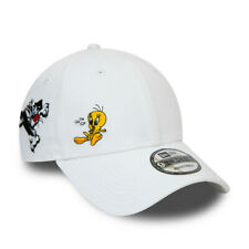 NEW ERA LOONEY TUNES BASEBALL CAP.9FORTY TWEETY PIE WHITE COTTON STRAP HAT S20