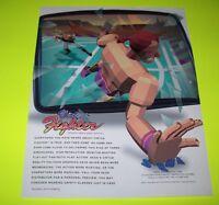 Sega VIRTUA FIGHTER Original 1993 NOS Video Arcade Game Promo Sales Flyer