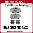 REAR DISCS AND PADS FOR FORD C-MAX 1.6 TDCI 11/2003-9/2007