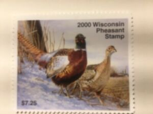 US STAMP 2000 Wisconsin Pheasant, Mint NH