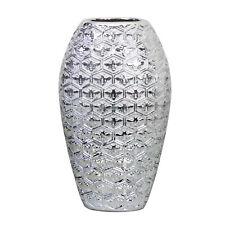 34cm Silver Art Bees Decorative Ceramic Vase Ornament Display Table Centrepiece