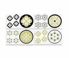 """COCALO REMOVABLE WALL APPLIQUES - 4 SHEETS 10"""" X 18"""" MOSS COLLECTION ROOM BOYS"""
