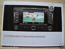 Skoda Amundsen Navi manual de instrucciones francés stand 03/2010