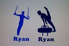 Custom Men Gymnastics Decal Sticker Personalize Gymnast
