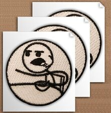 Great Embroidered Stickers! - Cereal Guy! Set of 3 - Free Shipping! (#Ap474)