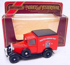 "Matchbox MODELS OF YESTERYEAR 1:40 FORD MODEL A Car ""POSTES CANADA"" POST MIB`84!"