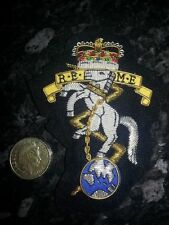 Royal Electrical Mechanical Engineers REME Blazer Badge, Army, Embroidered