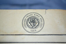 """Vintage Notepaper with Seal """"Trade Mark 1865"""""""
