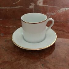 Tiffany & Co White China W/ Gold Rim Demitasse Tea Cup + Saucer - 16 Available