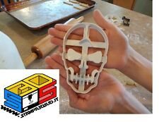 FORMINA BISCOTTI HALLOWEEN TESCHIO CRACKED SKULL FONDANT FIMO COOKIE CUTTER