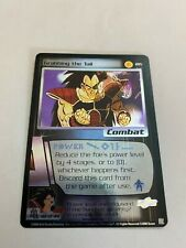 Dragonball Z CCG Grabbing the Tail Holo foil card, #205, 40 of 44