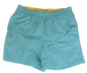 Polo Ralph Lauren Mens Swim Suit Shorts Trunks Hammond Blue Elastic Waist XL