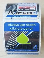Aspen 4 fuel stickers to use on 4-stroke products (Quantity 100)