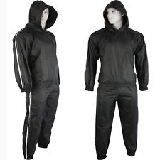VANNUY'S Heavy Duty Sweat Sauna Suit With Hoodie Runing Fitness Weight Loss Anti