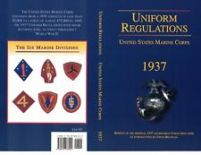 UNIFORM REGULATIONS US MARINE CORPS 1937, Quality reprint