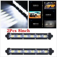 "Pair 8"" 60W Spot Beam Slim LED Work Light Bar Single Row Car SUV Offroad Lamps"