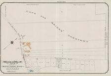 1913, CHARLES E. GOAD, MONTREAL, CANADA, COTE DES NEIGES CEMETERY COPY ATLAS MAP