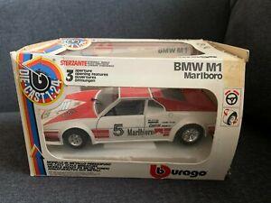 Burago 0169 Italy BMW M1 #5 Marlboro Racing 1:24 Goodyear Bosch Casterol NIB