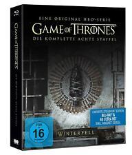 GAME OF THRONES, Staffel 8 (4 K Ultra HD + Blu-ray Disc) Steelbook NEU+OVP