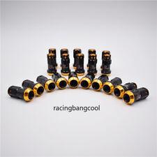 20pcs/set R40 Style Gold Racing Composite 44mm M12x1.5 Car Wheel Rims Lug Nuts