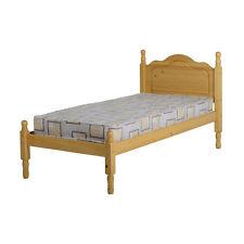 Sol Cadre De Lit - Simple 3ft - Pin Ancien - En bois avec Tête de lit