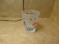 """San Francisco City By The Bay Frosted Shot Glass, 2 3/8"""" Tall, 1992 (Used/EUC)"""