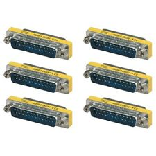 6x 25 Pin D-SUB DB25 Male to Male Mini Gender Changer Coupler M/M Gold Plated