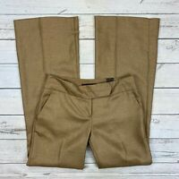 The Limited Cassidy Fit Dress Pants Size 4 Womens Flare Leg Brown Gold Woven