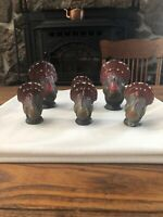 Vintage Gurley Thanksgiving Candles 6 Turkeys