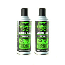 Valken Tactical 8 oz. Premium Airsoft Green Gas Canisters (2 Pack)