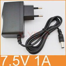 AC 100V-240V Adapter DC 7.5V 1A Switching power supply 1000mA EU 5.5mm x 2.1mm