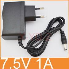 AC 100V-240V Adapter DC 7.5V 1A Switching power supply 1000mA EU 5.5mm x 2.1mm
