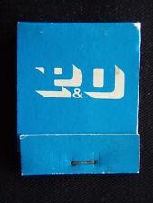 P&O BLUE MATCHBOOK