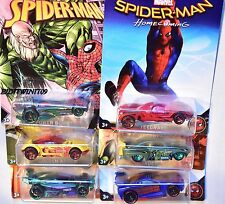 HOT WHEELS MARVEL SPIDER-MAN 2017 SET OF 6 JADED DRIFT KING POWER BOMB