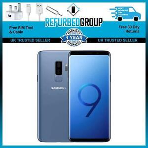 Samsung Galaxy S9 + Plus Blue 128GB Unlocked Grade B LCD SOMETIMES GOES BLANK