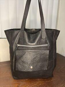 ANTHROPOLOGIE DAY & MOOD Bag Heather Tote 3 Black Leather Shoulder Bag Authentic