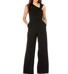 Calvin Klein - Sleeveless Jumpsuit Asymmetrical Knot Neckline - Black - Sz 8