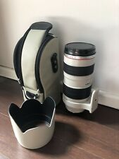 Canon EF 70-200mm F/2.8 L IS USM Lens Excellent Condition With Case, Hood & Caps
