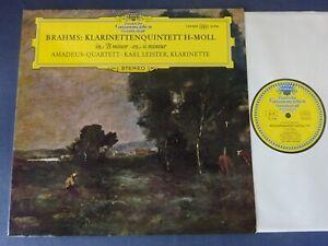 TULIPS NM BRAHMS - CLARINET QUINTET LP, Amadeus Quartet, Leister, DG 139 354