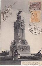 B79069 buenos aires monumento de los espanoles argentina scan front/back image