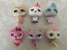 Littlest Pet Shop RARE Owl #496 1476 No 147 1373 674 Yellow White Pink Bird Lot