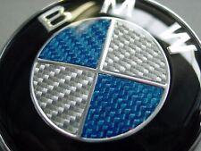 BMW Carbon Emblem 82mm E36 E34 E32 E39 E38 E46 E90 M3 M5 M6 E60 E82 X5 X3 Blau