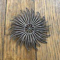 Vintage Jewelry Silver Filagree BROOCH PIN Large Sterling Vintage Wire Abstract