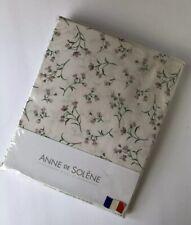 Anne De Solene Paris Twin Fitted Sheet Admiration Pink Floral Percale 100% Coton