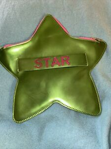 Rare Red Valentino Pink and Green Star Clutch